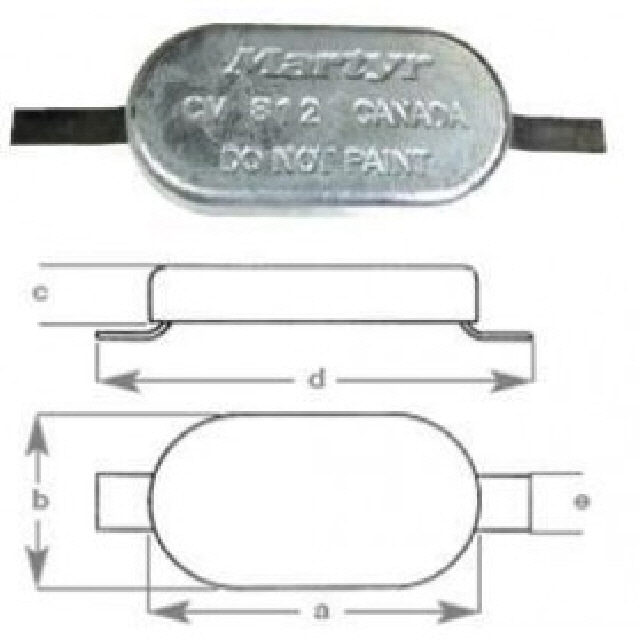 Anode Oval With Strap 150x75x35mm (191032)