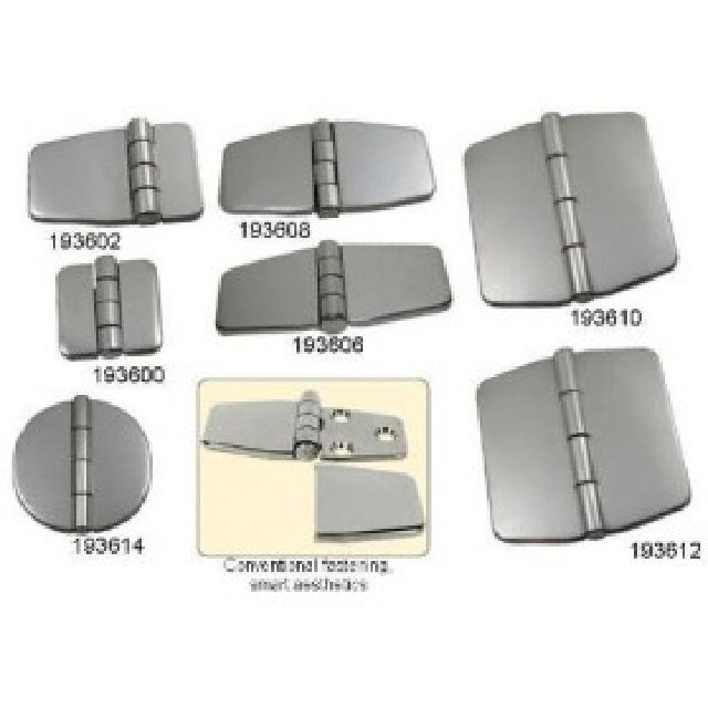 Hinge Covered Low Profile Stainless Steel 80x40mm Pr (193608)