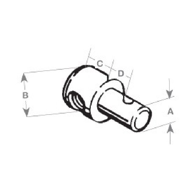 Pivot end terminal 7.5mm Head T/S 30 Series (309844)