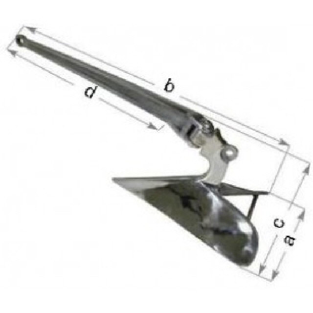 Plough Anchor Cast Stainless Steel 15kg (146190)