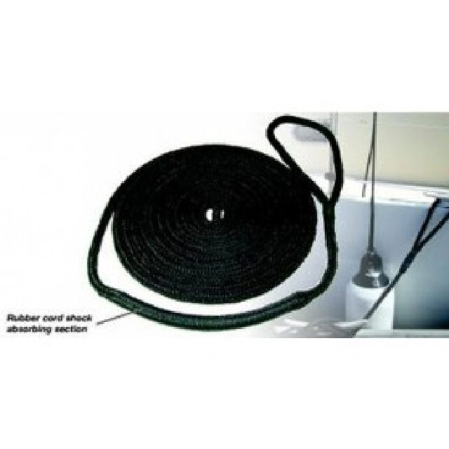 Mooring Line - Elasticised - 15mm x 16m - Black (144259)