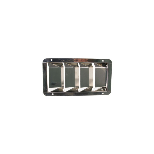 Vent 4 Louvre Stainless Steel 210x112mm (175024)