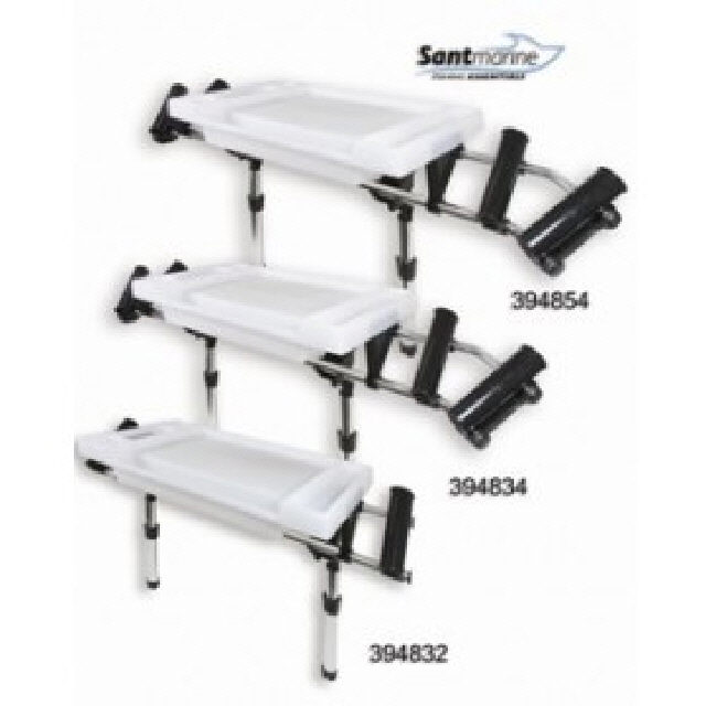 Med Supreme Bait Board With 2 Rod Holders Rod Mt (394832)