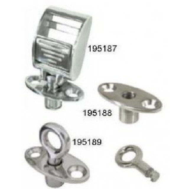 Buckle Canopy Strap C/W Key Mount Stainless Steel (195187)