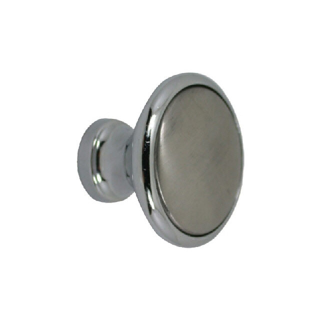 Knob Cabinet C/P Brass & Stainless Steel 31mm Dia (193398)