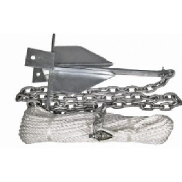 Sand Anchor Kit 13 Lb 50x10 Rope 2x8 Chain (146022)