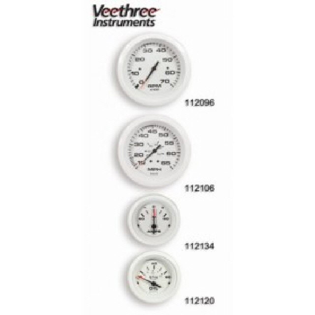 Water Temp Gauge Arctic White 120-240f (112112)