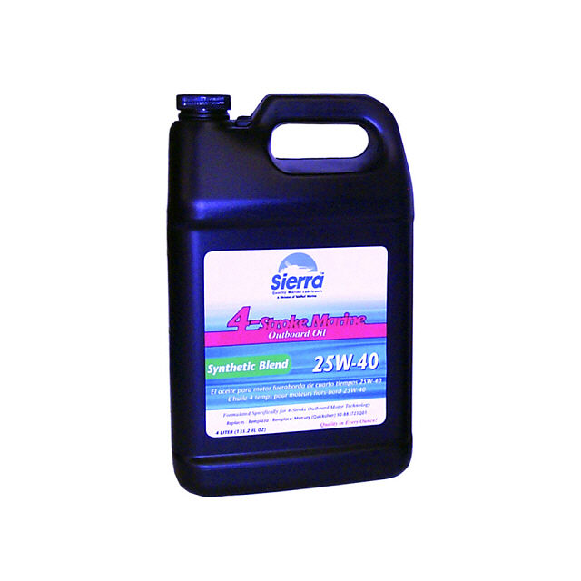 4 Stroke Outboard Synthetic Blend Oil 25W40, 4 L - Sierra (S18-9440-3)