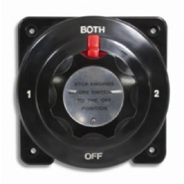 175 Amp Battery Switch -  4 Posn Black 235a (114304)