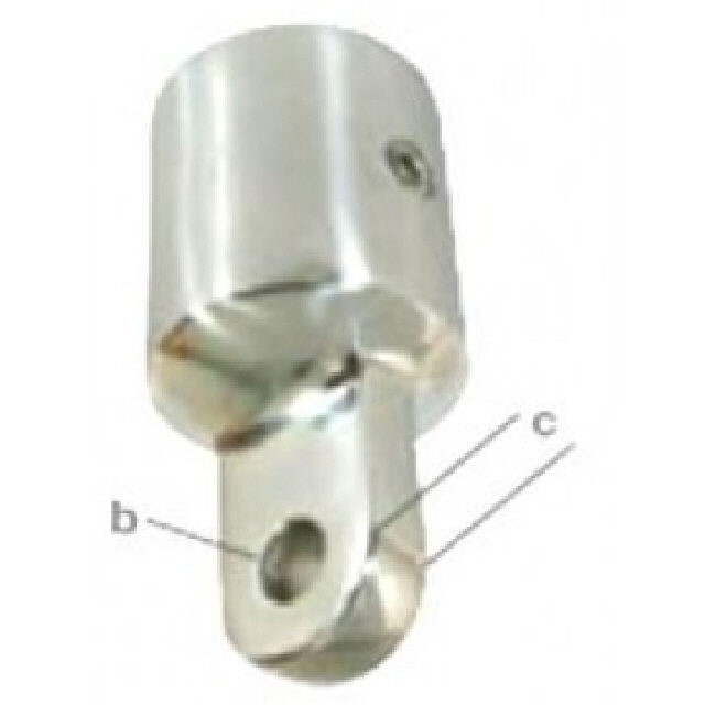 Canopy Bow End Ext Stainless Steel T/S 22mm-7/8 (195017)