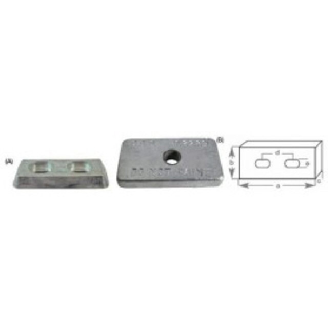 Anode Block With Holes 155x70x20mm (191000)