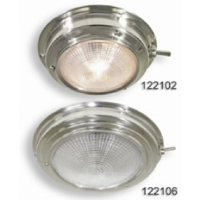 Light Dome Red/White Stainless Steel 165mm (122110)
