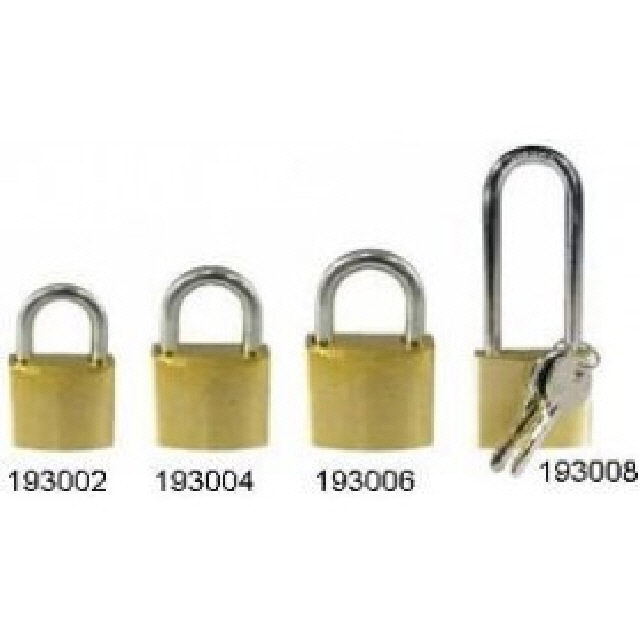 Padlock Brass With Stainless Steel Shackle 50mm (193006)