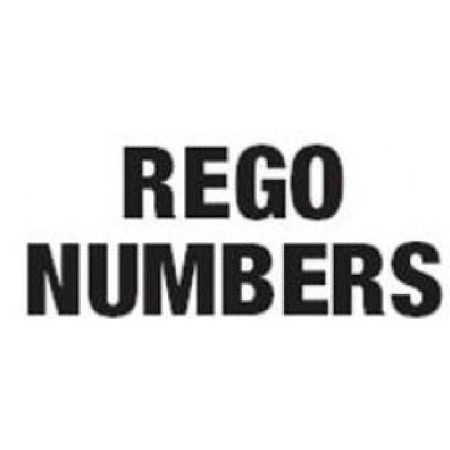 Rego Letter (K) 100mm Black Pack Of 5 Pairs (196040K)