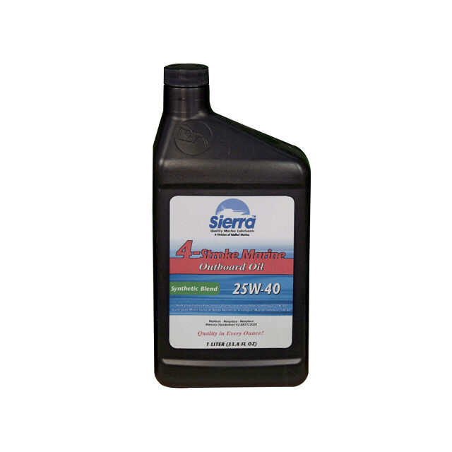 4 Stroke Outboard Synthetic Blend Oil 25W40, 1 L - Sierra (S18-9440-8)