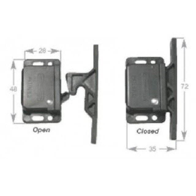 Catch Door Push Close Side Mount (193114)