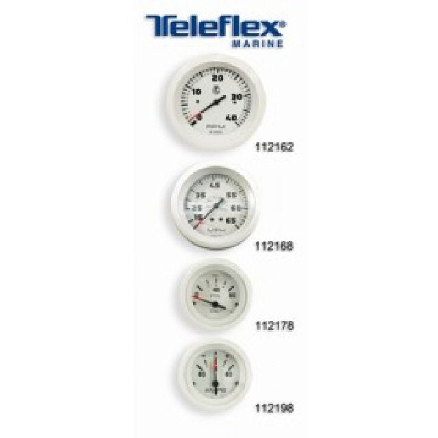 Ammeter White Domed 60-0-60amps# (112198)