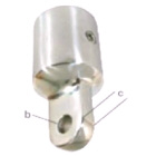 Canopy Bow End Ext Stainless Steel 25mm-1 8mm Hole (195019)