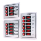 Illuminated 3 Vertical Switch Panel - Silver Alloy (114014)