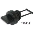 Drain Plug Black Plastic 25mm Cut Out (192412)