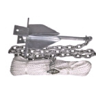 Sand Anchor Kit 6lb 50x8 Rope 2x6 Chain (146026)