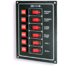 Vertical Illuminated 6 Switch Panel - Black Alloy (114010)