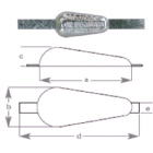 Anode Teardrop With Strap 127x60x34mm (191060)