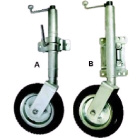 Jockey wheel heavy duty solid wheel swivel mount (215191)