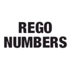 Rego Number (2) 163mm Black Pack Of 5 Pairs (1960202)
