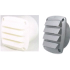 Vent Louvre Plastic White C/W 75mm Tail (176032)